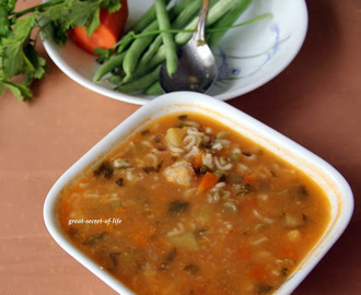 vegetarian minestrone soup with pasta recipe