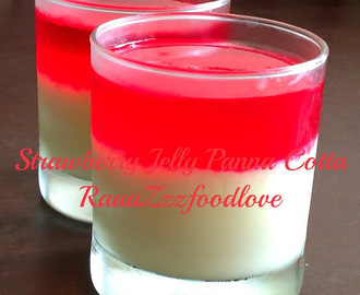 Strawberry Jelly Panna Cotta