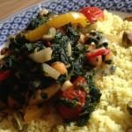 Vegetarische spinazie couscous