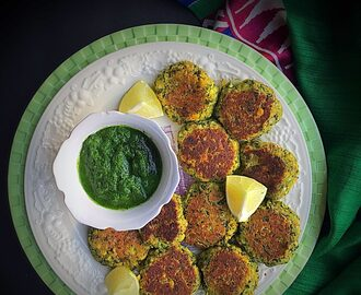 Chana Dal and Spinach Tikki