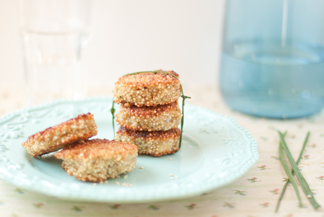 Croquetas de quinoa con amor / Quinoa patties with love