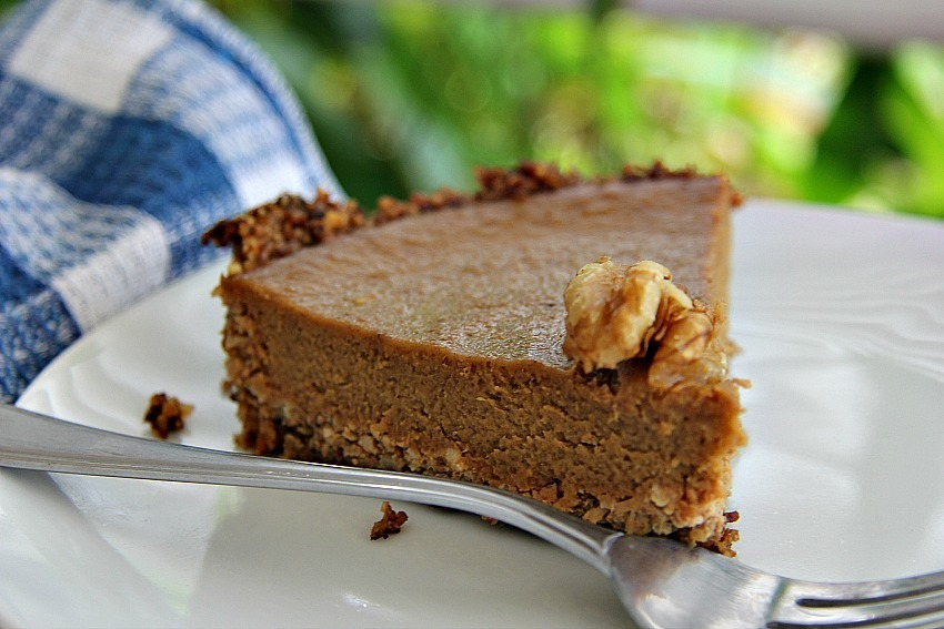 Low Carb Walnut & Pumpkin Pie