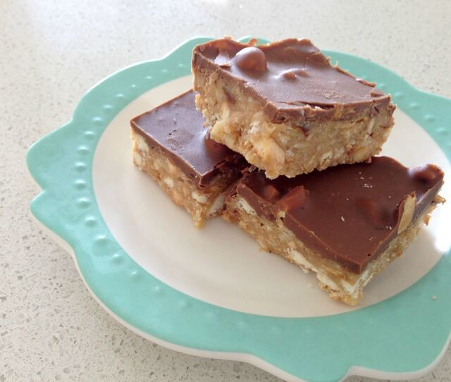 Thermomix Chocolate Hazelnut Slice
