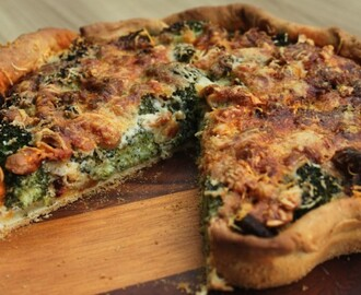 Broccoli quiche met chorizo