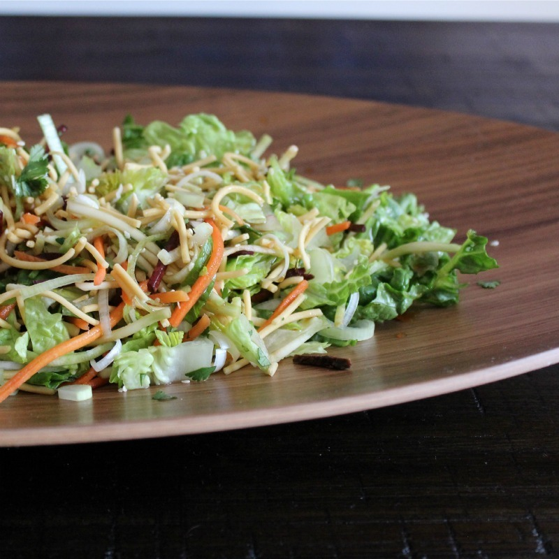 Simple Salad Series: Crunchy Noodle Salad with Sesame Dressing