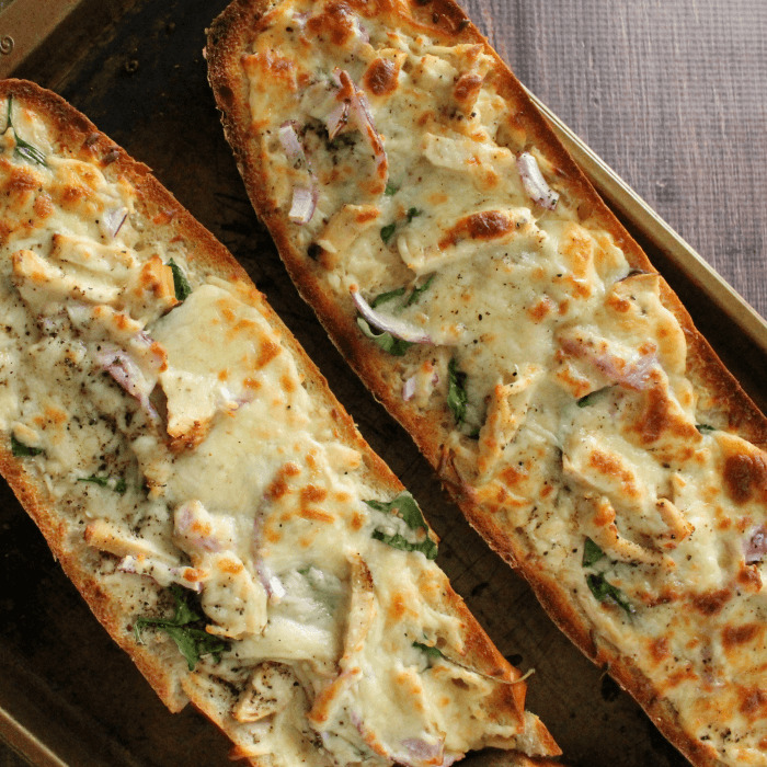 French Bread Chicken Alfredo Pizza Recipe