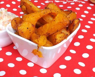 Spicy Butternut Squash Chips