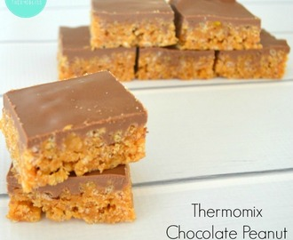 Thermomix Chocolate Peanut Butter Slice