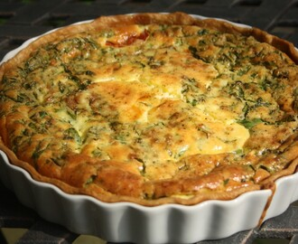 Spinach, Goat Cheese and Tomato Quiche - from the pantry