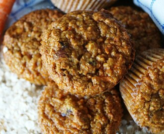 Gezonde carrot cake muffins