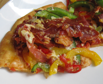 HomeMade Pizza Recipe - Serrano Ham and Chorizo