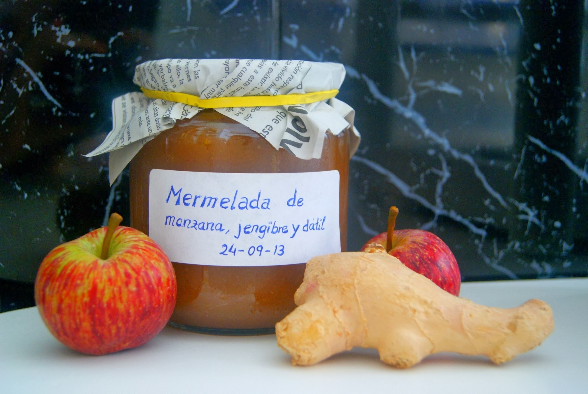 Mermelada de Manzana, Jengibre y Datil