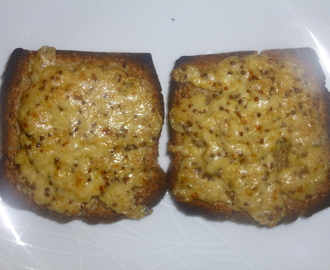 Cheese on Toast with Mustard and Worcester Sauce Recipe