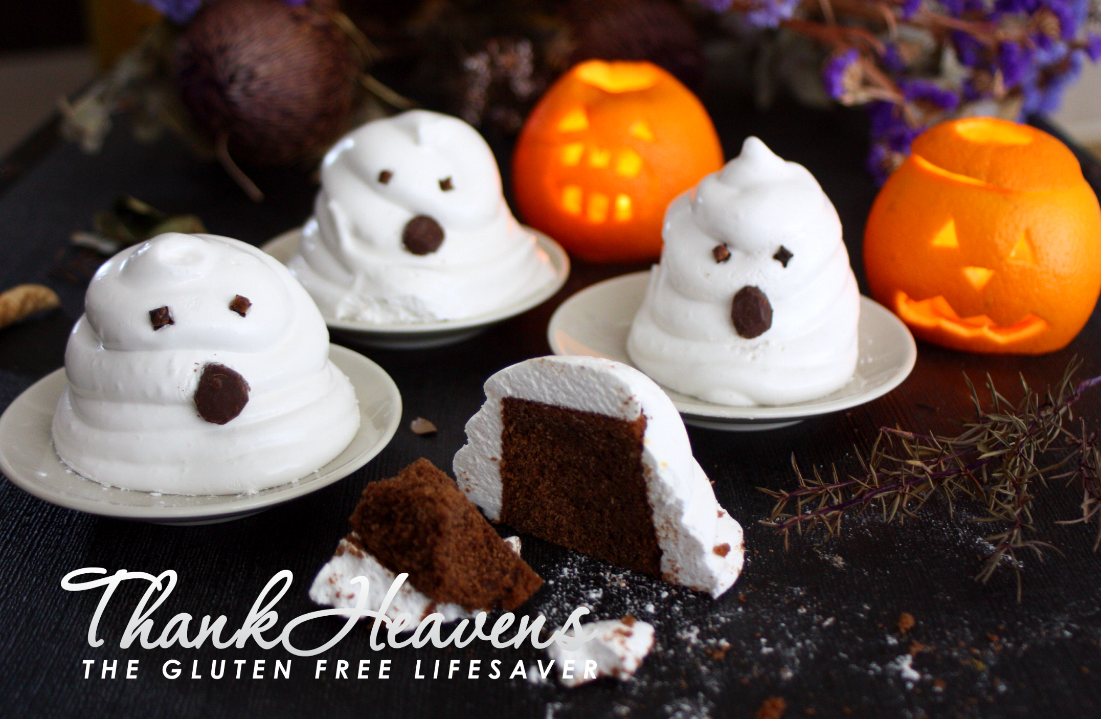 Spooky Chocolate Muffin Marshmallow Halloween Ghosts (Gluten-Free, Dairy-Free, Failsafe, low-FODMAP)