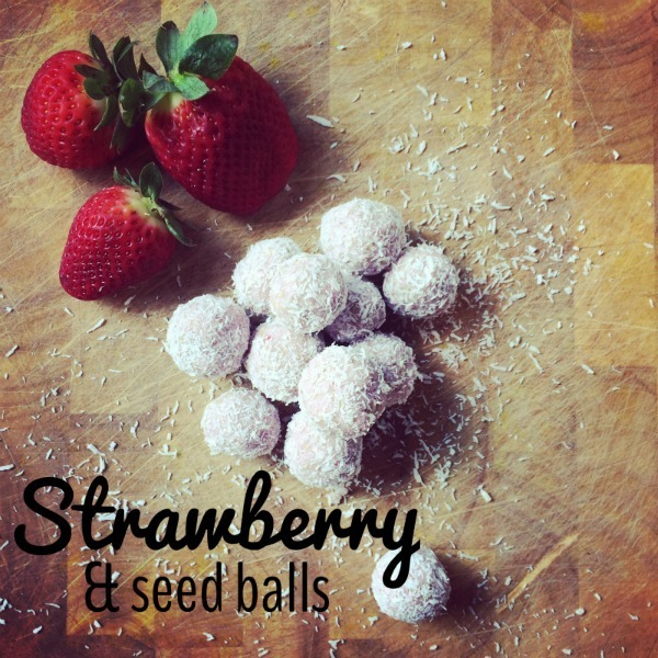Sugar Free Strawberry and Seed Balls