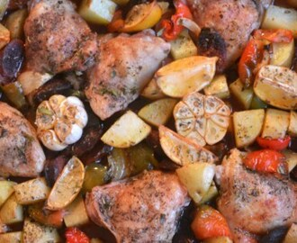 Chicken and Chorizo One Pot Lazy Bake