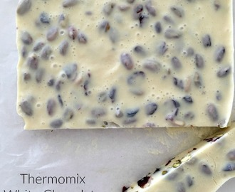 Thermomix White Chocolate Christmas Fudge