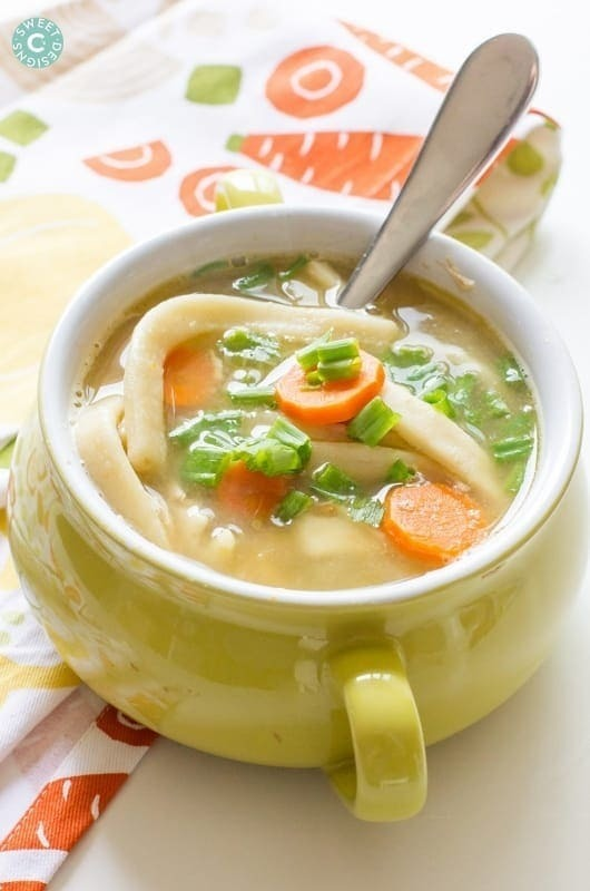 The BEST Easy Homemade Chicken Noodle Soup