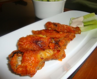Buffalo chicken wings ( oven baked )