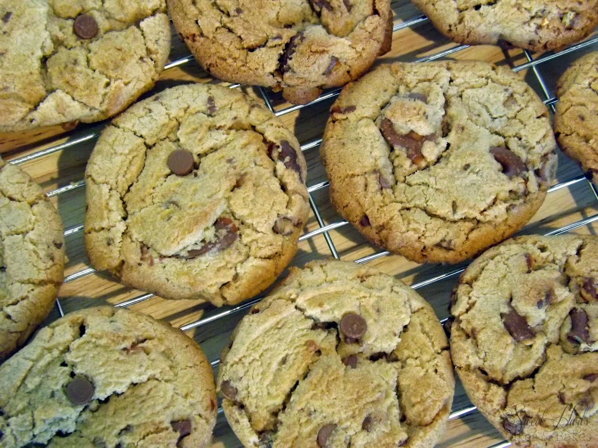 Choc chip and pretzel cookies!