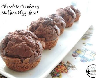 Chocolate Cranberry Muffins (Egg-Free)