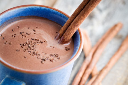 Easy warm chocolate drink