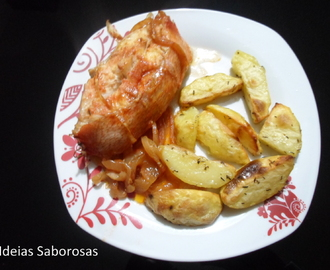 Red Fish no forno com Batatas Assadas