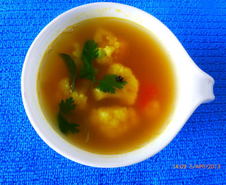 Chettinad Style Cauliflower Clear Soup