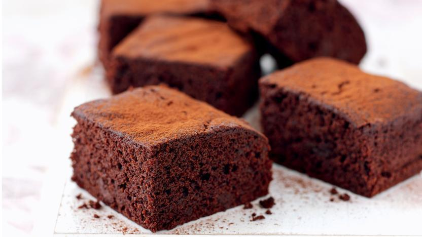 Lower-fat chocolate brownies