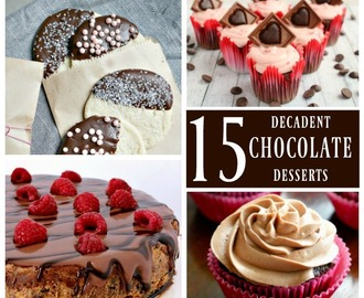 15 Decadent Chocolate Desserts – National Chocolate Month + Giveaway!