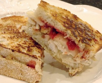 Grilled Leftover Thanksgiving Sandwiches with BBQ Cranberry Sauce