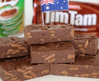 Microwave Tim Tam & Milo Fudge
