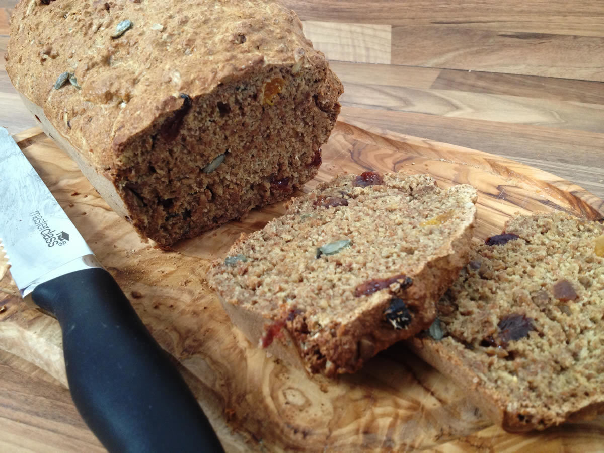 Spelt Loaf with Dried Fruit and Honey Coated Seeds - RECIPE