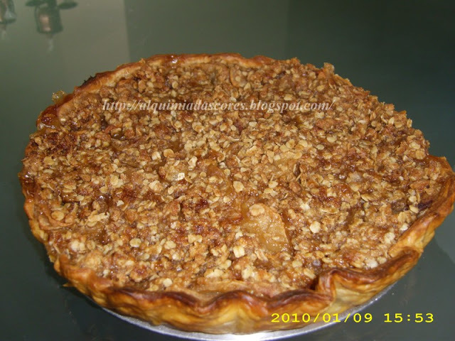 Tarte de maçã com cobertura crocante / Apple pie with crunchy topping