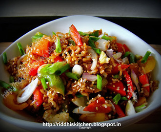 Vegetable Fried Brown Rice with Sesame seeds