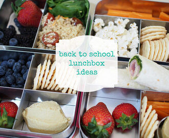 back to school lunchbox ideas