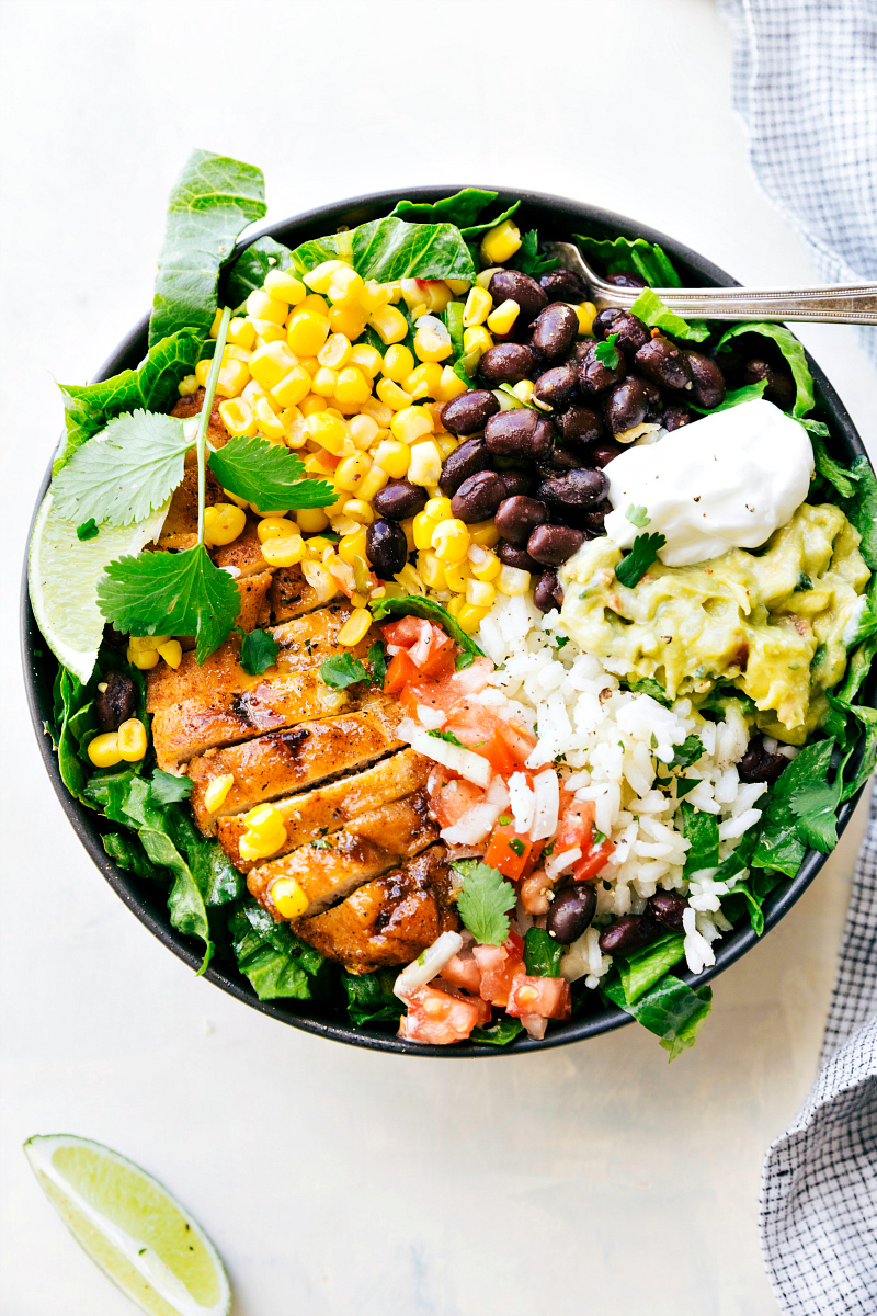 Chicken Burrito Bowls (Meal Prep)