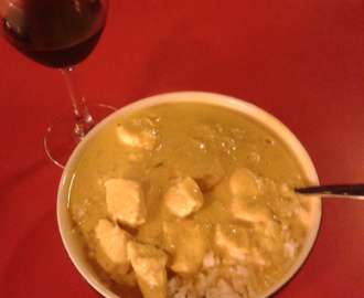 "Chicken ""curry"" ala Mathilde (15 kr)"