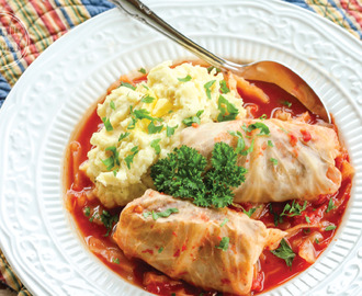 Low-Carb Paleo Stuffed Cabbage Rolls with Tomato Sauce {Oven, Slow Coker & Pressure Cooker}