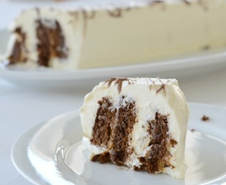 Chocolate Ripple Cake with Caramel