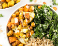 Curry Roasted Vegetable Quinoa Bowls