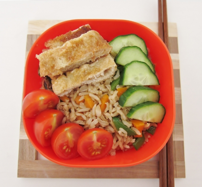 Healthier Fried Rice & Tamago
