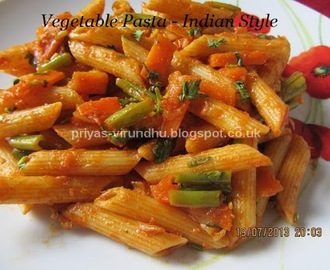 Vegetable Pasta – Indian Style
