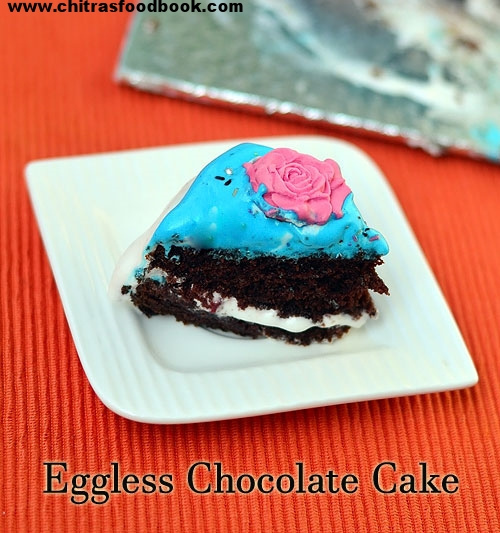 Eggless Chocolate Cake Recipe – Moist & Spongy