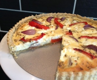 Goat's Cheese, Red Onion and Pepper Tart