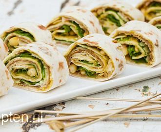 Tortilla pesto rolletjes