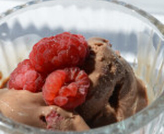 Cooling Off with Raspberry & Chocolate Ice Cream
