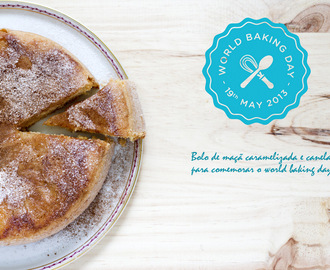 Bolo de maçã caramelizado - World Baking Day