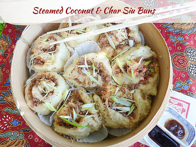 Lunar New Year Steamed Coconut & Char Siu Buns