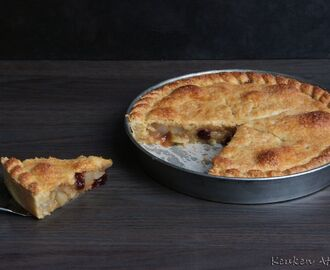 Appel Peren taart (apple pear pie)